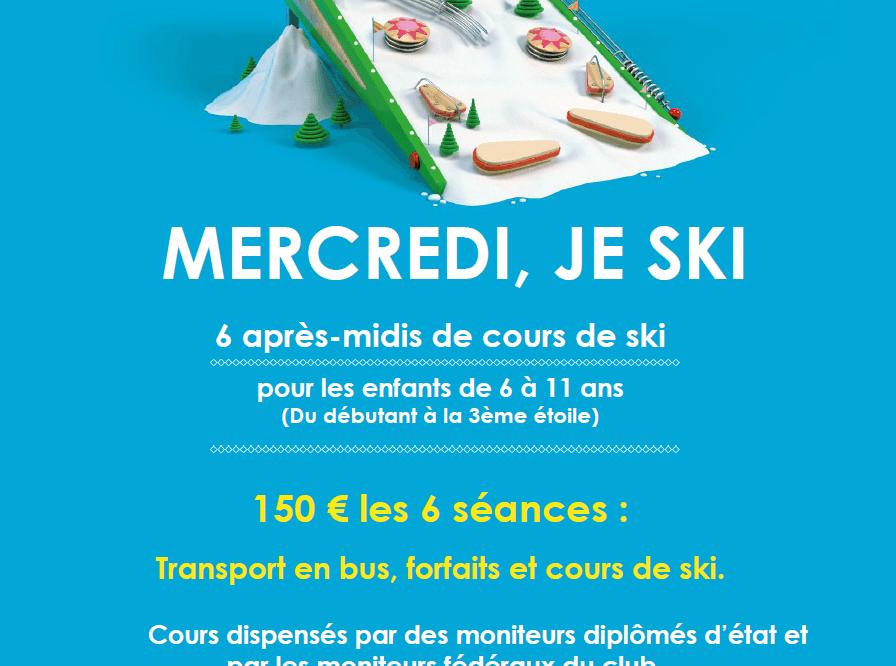 mercredi, je skie