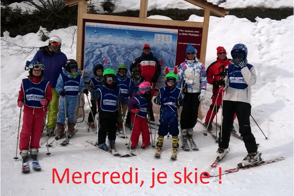 Mercredi, je skie !